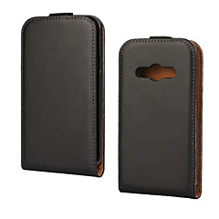 Genuine Leather Vertical Flip Magnetic Button Leather Case for Samsung Galaxy Xcover 3 G388F (Assorted Colors)