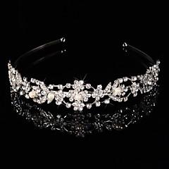 Bruiloft/Feest - Haarbanden/Tiara'S ( Kristal/Legering/Strass/Verzilverd , Zilver )