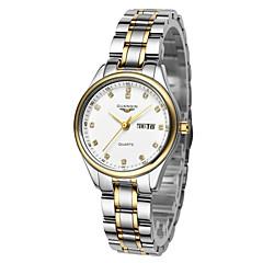 Bayanların Moda Saat Quartz Takvim / Su Resisdansı Paslanmaz Çelik Bant Gümüş Marka