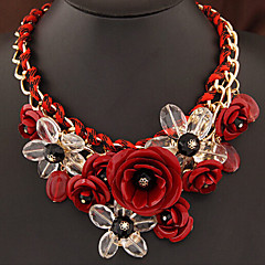Flower Shape Wave Alloy Necklace Statement Necklaces Wedding/Party/Daily/Casual 1pc