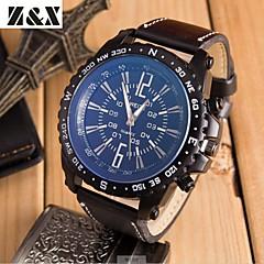 herremode store sport dial quartz armbåndsur (assorterede farver)