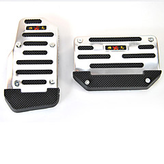 Automatic Transmission Car Pedal Cover Set of 2(Black and Silver)
