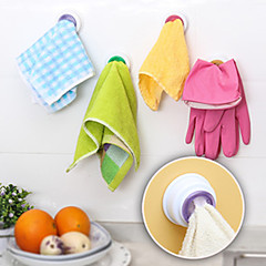 Designed Self-adhesive Cloth Holder Towel Hook Kitchen (Random Color)