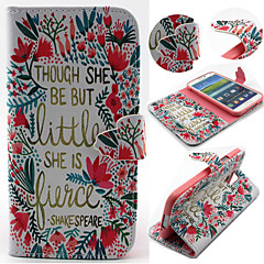 Flower and Grass Pattern with Card Bag Full Body Case for Samsung Galaxy S3/S4 Mini/ S5