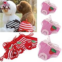 Γάτες / Σκυλιά Παντελόνια Κόκκινο / Ροζ Ρούχα για σκύλους Άνοιξη/Χειμώνας Πουά / Φιόγκος Γάμος / Στολές Ηρώων