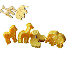 4PCS Animal Pattern Cake and Cookie Cutter Mold