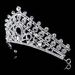 Vintage Charming Design Wedding Bride  Flowers Headband Cown Crystal And Pearls Hair Accessior