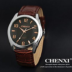 CHENXI® Men's Dress Watch Simple Design Brown Leather Strap Wrist Watch Cool Watch Unique Watch Fashion Watch