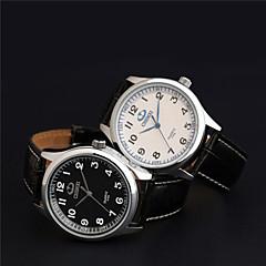 Masculino Relógio Elegante Quartzo Quartzo Japonês Couro Banda Preta