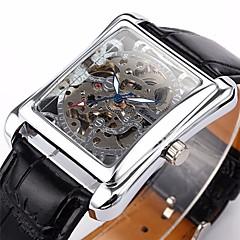 Мужской Наручные часы С автоподзаводом С гравировкой PU Группа Черный бренд- WINNER