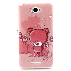 Bear Pattern TPU Soft Case for Sony E4