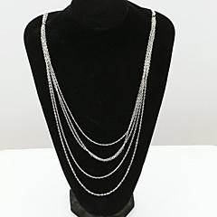 Damskie Oświadczenie Naszyjniki Kryształ sztuczna Diament 18K złoty Austria Crystal Modny Europejski White Biżuteria Na