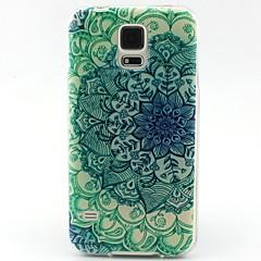 azul e branco padrão TPU caso de telefone material para Samsung Galaxy S3 S4 S5 S6 s6edge s3mini s4mini s5mini