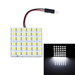 T10 BA9S Festoon 7W 180lm 6000K 36-SMD 5050 LED White Light Car Reading Lamps / Indoor Light  (12V)