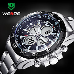 WEIDE® Men Sporty Analog Digital Watch Stainless Steel Stopwatch/Alarm/Backlight/Waterproof Wrist Watch Cool Watch Unique Watch