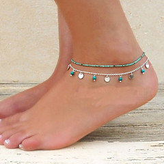 Fashion Summer Beach Simple Turquoise Anklet(1pc) Jewelry Christmas Gifts