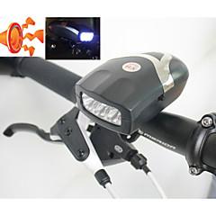 przednie światła rower, bezpieczeństwo, 3-doprowadziły światła przednie rower z dzwonkiem