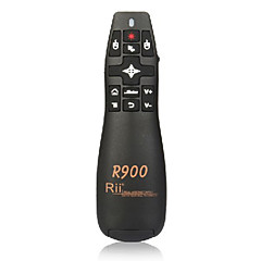 Rii RT-MWK14 R900 2.4G Mini Wireless Air Mouse Fly Mouse with Laser Pointer for Meeting Lectures