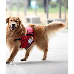 Tranportadoras e Malas / Pacote de cão Animais de Estimação Transportadores Prova-de-Água / Portátil Têxtil Vermelho / Verde / Azul