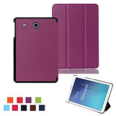 caz ultra-subțire smart suport magnetic piele pentru Samsung Galaxy Tab 9.6 e T560 / fila de 8,0 T350 / tab o (culoare aorted) 9.7