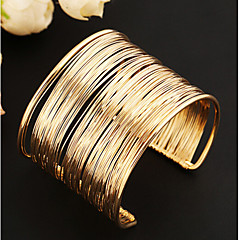 Lucky Doll Women's All Matching Vintage Gold Cut Out Braided Open Bracelet Christmas Gifts