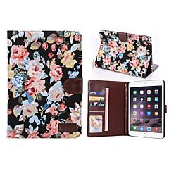 חריצי מקרה עור PU כרטיס סגנון פרח& ארנק עם בעל ל2/3 (צבעים שונים) מיני iPad