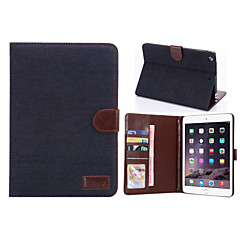 denim stil pu lærveske kortspor& lommebok med holder for ipad mini 2/3 (assorterte farger)