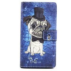 For Sony etui / Xperia Z3 Pung / Kortholder / Med stativ / Flip Etui Heldækkende Etui Hund Hårdt Kunstlæder for SonySony Xperia Z3 / Sony