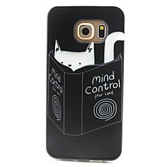 katt mönster TPU material ringer fallet för Samsung Galaxy S3 s4 s5 s6 s3mini s4mini s5mini s6 kant