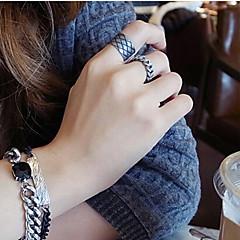 European Style Retro Fashion Chain Mash Adjustable Ring Set