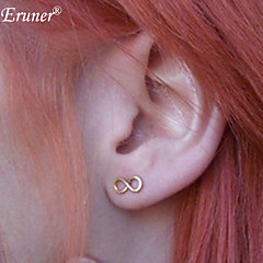 Fashion Infinity Lucky 8 Number Earring Sweet Lovely Stud Earring