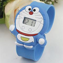 barns gullig tecknad silikon Doraemon mönster härlig digital kalender vattenavvisande slap klocka