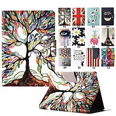 Karikatur-Baum-Grafik Ganzkörper-PU-Leder PC Kasten-Abdeckung mit Standplatz für Amazonas paper 2 (verschiedene Farben)