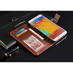 Mert Samsung Galaxy Note Pénztárca / Kártyatartó / Állvánnyal / Flip Case Teljes védelem Case Egyszínű Műbőr Samsung Note 3