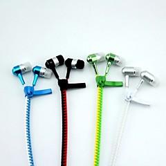 doulbe cremallera del color del auricular cable 100cm cáscara del metal de / 5 teléfonos inteligentes iphone 5/6 samsung s5