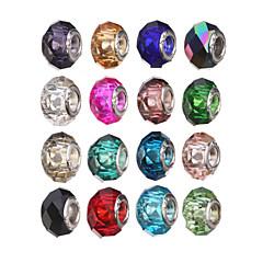 diy cam / akrilik yuvarlak kristal büyük delik boncuk 10pcs (rastgele renk)
