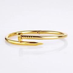 Simple Nail Shape Titanium Steel Hot Sales 18K Rose Gold Bracelets For Women(White,Gold,Rose Gold)(1Pc)