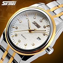 SKMEI® Men's Dress Watch Elegant Design Japanese Quartz Calendar/Water Resistant Stainless Steel Strap Cool Watch Unique Watch