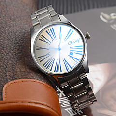 Couple's Dress Watch Japanese Quartz Calendar Water Resistant Stainless Steel Analog Wrist Watch