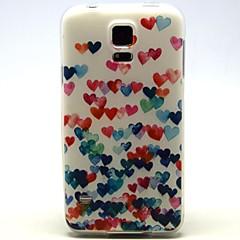 Mert Samsung Galaxy tok Minta Case Hátlap Case Szív TPU Samsung S5 Mini / S5 / S4 Mini / S4 / S3 Mini / S3