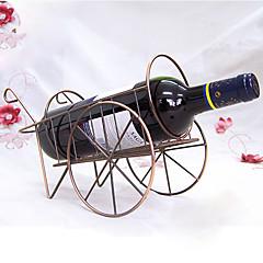 vogn formet vinflaske rack retro rustfrit jern vin holder