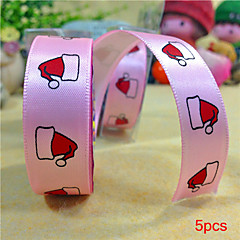 5pcs Silk Tape Christmas Hat on Christmas Diy Tape Birthday Dots Christmas Cartoon