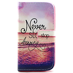 Dream-Seeker Pattern PU Leather TPU Full Body Case with Card Holder for Samsung Galaxy Alpha/Grand NEO /Core Plus