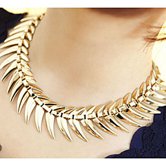 Super benefits  Fishbone Alloy Necklace Choker Necklaces Party/Daily/Casual 1pc
