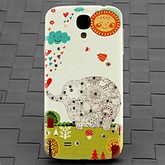 borr och skog elefant mönster pc tillbaka täcker fallet för Samsung Galaxy S4 / 9500