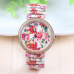 Damen Modeuhr Quartz Armbanduhren für den Alltag Legierung Band Blume Mehrfarbig Marke- Xu™