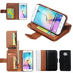 de ji plånbok pu läderfodral till Samsung Galaxy s6 kant / s6 / S5 / S4 / S3 med 7-kortplats (blandade färger)