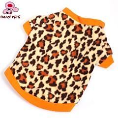 Gatos / Perros Abrigos / Camiseta / Ropa / Ropa Marrón Invierno Leopardo Boda / Leopardo / Cosplay