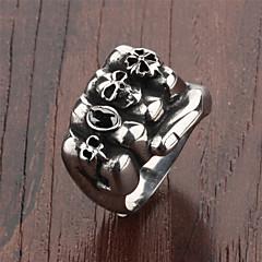Stainless Steel Skeleton Men's Ring