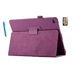 PU casos del sobre de cuero casos folio para ipad 2/3/4 cáscara fina + protector de pantalla + pantalla táctil pluma libre (color